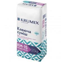 KRUMIX KM-15 Клеюча суміш для приклейки та армування теплоізолюючих плит